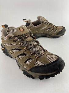 Merrell Moab Ventilator Walnut J86595 Brown Trail Hiking Vibram Shoes Men's  9.5