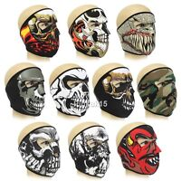 New Neoprene Full & Half Face Mask Snowboarding ATV Quad Motor Bike Skull Ski