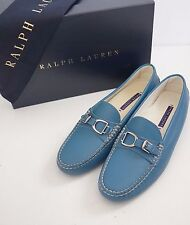"RALPH LAUREN COLLECTION ""DASITA"" Blue Leather Loafers Moccasins 8.5B"