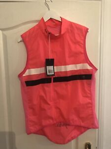 Rapha Mens Brevet Gilet Size-Xl High Vis Pink
