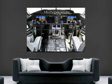 BOEING AIRBUS  COCKPIT AEROPLANE 737 HUGE LARGE WALL ART POSTER PICTURE
