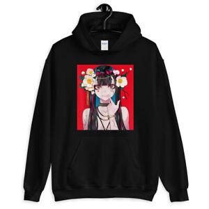 Anime Girl Waifu Japanese Aesthetic Kawaii Otaku 4 colors Unisex Hoodie