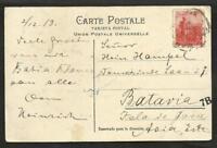 ARGENTINA 1919 TO JAVA (NETHERLAND INDIA) PC CIRCULED, RARE DESTINATION RRRRR !!