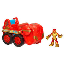 Playskool Heroes Marvel - Vehiculo Repulsor 4x4 + Figura Iron Man