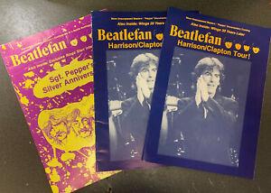 BEATLEFAN Magazine 3 Copies 1991 Beatles McCartney, Lennon, Ringo, George (v13b)