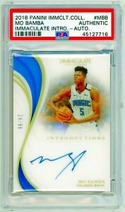 MO BAMBA 2018 Panini Immaculate INTRODUCTIONS /99 PSA Rookie RC Authentic