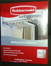 rubbermaid sliding pants rack