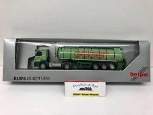 "Herpa 288408 Spur H0 1/87 Mercedes Benz Actros M Bitumen Sattelzug ""Geiger"""