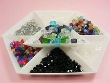 High Quality Crystal GLASS Bicone BEADS 4MM or 6MM or Crystal CUBE Beads 6MM