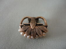 Shirt Clip Brass Pearl Victorian Collar Hat Sweater Clip on Anything Vintage