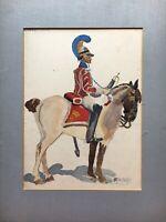 Otto Vollnhals Gardes du Corps Reiter mit Pferd Militaria 1916 Aquarell 45 x 34