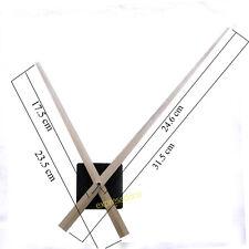 Aiguilles 31,5 cm Noir filetage 11mm Mécanisme Horloge Mouvement Pendule Murale
