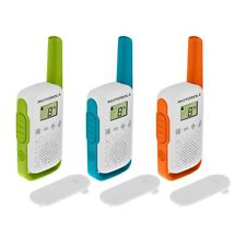 3 x Motorola TALKABOUT T42 Triple Pack Two-Way Radios Childrens PMR 446 Compact