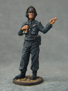 WWII.German Tank Officer. Souvenir painting tin soldier SCALE 1/32 54 mm