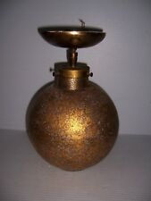 Vintage Mid Century Atomic Age Gold Speckled Colored Globe Ceiling Light Fixture