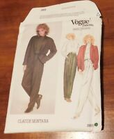 Vogue Paris Original Pattern 2853 Claude Montana Pant Suit Trouser Size 10