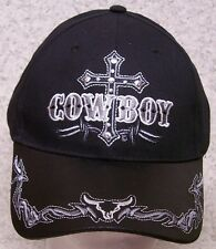 Embroidered Baseball Cap Cowboy Cross NEW 1 hat size fits all