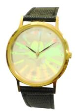 Collectable Lorus Mickey Glow In The Dark Dial Watch With Black Leather Band