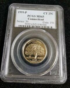 1999 P PCGS MS65 Connecticut State Quarter 25c