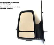 Right Driver Side Wing Door Mirror Glass for VW CRAFTER 2006-2016 Chauffé