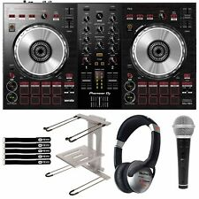 Pioneer DDJ-SB3 Serato DJ Built In Mixer Controller w Software Laptop Stand Pack