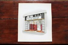 1960s French Clothes Shopfront Gouache Design Project