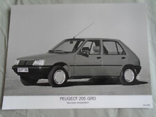 Peugeot 205 GRD Press Photo brochure 1991 texte allemand
