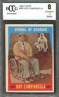 Roy Campanella Card 1959 Topps #550 Brooklyn Dodgers BGS BCCG 8