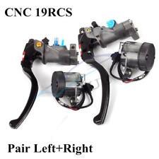 1 Pair CNC Left&Right 19 Rcs Motorcycle  Brake Master Cylinder Radial Pump 22mm