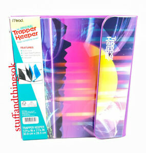 """Vtg Style 80s 90s Mead Trapper Keeper Binder Sunset 1"""" Round Binder Rings 2021"""