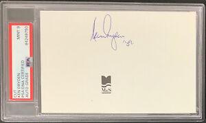 Ken Dryden Signed Cut Autograph MontrealCanadiens Hockey HOF PSA/DNA Mint 9 Auto