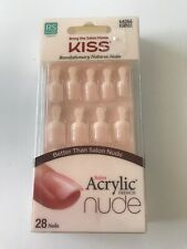 (1) Kiss Revolutionary Natural Nails Nude, KAN01 Real Short