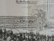 MERIAN - orig. Kupferstich 1654: Die alte Hartzburg / Bad Harzburg im Harz