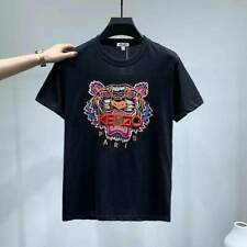 Men's Women's Tiger Embroidered Logo Kenzo Paris Cotton T-shirt short sleeves