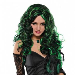 Halloween Adults Be Wicked Green Wig
