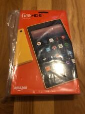New Amazon Fire HD 8 16gb Tablet Canary Yellow 7th Gen...