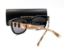5dc5b9463ef4 BURBERRY B 4226 3600 81 Sunglasses Glossy Black Opal Plaid ~ Polarized  w case