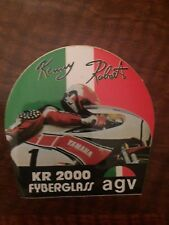 KENNY ROBERTS AGV KR2000 STICKER CLASSIC VINTAGE 90X 90MM
