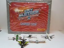 Matchbox Sky Busters Carrier Case with 5 Aircrafts Planes & Jets Excellent Case