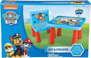 Paw Patrol SIT & COLOUR Table and Chair Play Set