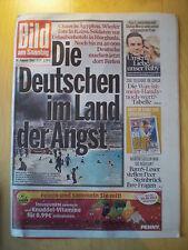BamS Leonardo DiCaprio Toni Garrn Audrey Hepburn Mesut Özil Peer Steinbrück Bolt