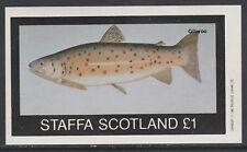 GB Locals - Staffa 3508 - 1982  FISH imperf souvenir sheet u/m