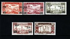 Syria Sc C148-52 LH issue of 1948 - Overprint