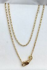 """18k Solid Yellow Gold Italian Small Link Chain Necklace, 16"""". 2.85Grams"""