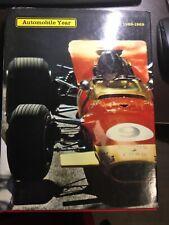 RARE VINTAGE 1968-1969 #16 Automobile Year Hardback Annual Book Motorsports F1