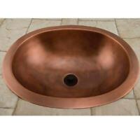"Signature Hardware 397455 Darien 19"" Copper Drop In Bathroom Sink - Copper"