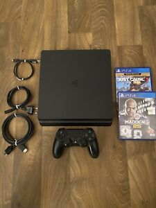 PS 4 Sony PlayStation 4 Slim 1 TB - Controller - 2 Spiele - Alle Kabel CUH-2016A
