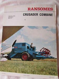 @Ransomes Crusader Combine Brochure@