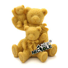 Nicole R0500 3D Bear Family Silicone Molds For Making Decorative Soap Candle