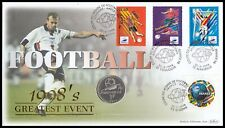 1998 France Football World Cup 1 Franc Coupe du Monde Silver Coin Benham C23 FDC
